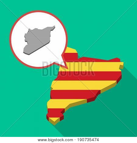 Long Shadow Catalonia Map With  The Map Of Syria