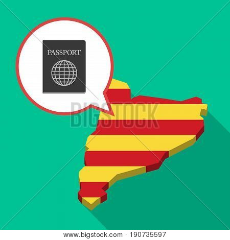 Long Shadow Catalonia Map With  A Passport