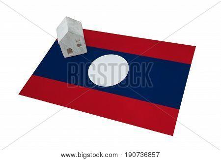 Small House On A Flag - Laos