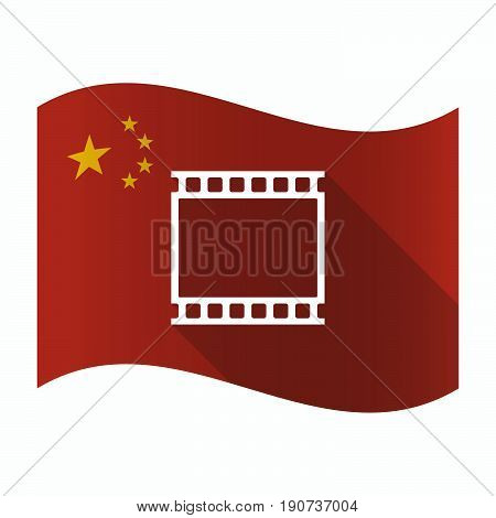 Waving China Flag With   A Photographic 35Mm Film Strip