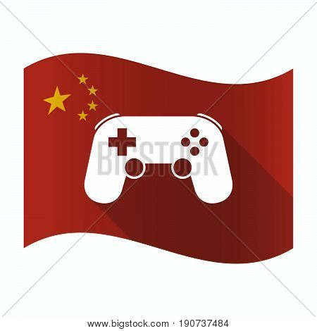 Waving China Flag With  A Game Pad