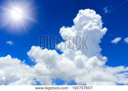 Cumulus Cloud. Day Sky Cloud And Sun. Summer Sky.