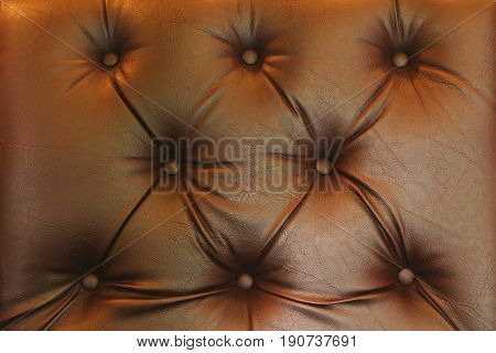 Close Up Of Brown Leather Background Or Texture Sofa Leather