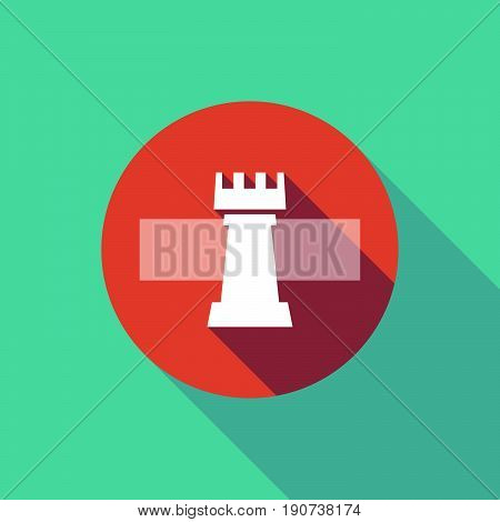 Long Shadow Do Not Enter Signal With A  Rook   Chess Figure