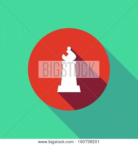 Long Shadow Do Not Enter Signal With A Bishop    Chess Figure