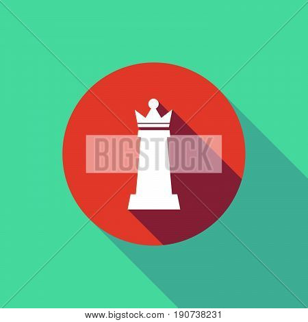 Long Shadow Do Not Enter Signal With A  Queen   Chess Figure