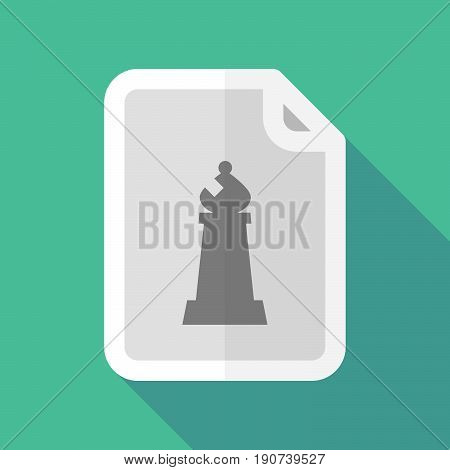 Long Shadow Document With A Bishop    Chess Figure