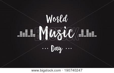 Celebration world music day background style vector art