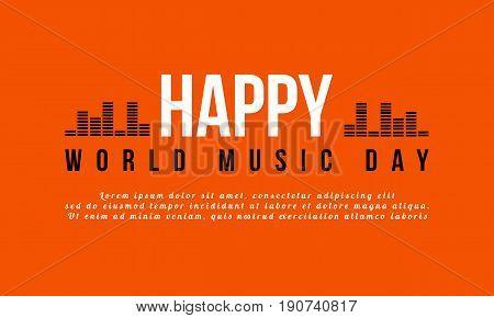 World music day celebration background style vector art