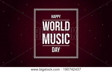 Background world music day vector flat collection stock