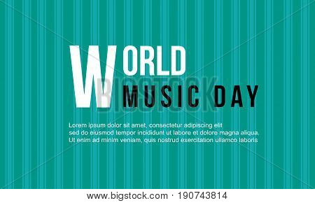 World music day celebration collection vector art