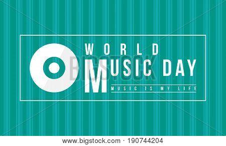 Background of world music day celebration vector flat