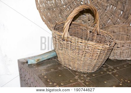 Basket of hard vines in the Cossack house