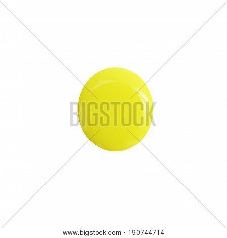 nail polish blots isolated on white background