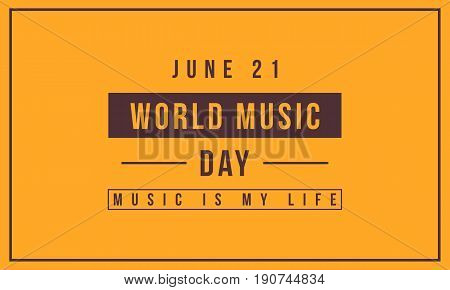 Collection background world music day vector art