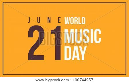 World music day style background vector art collection