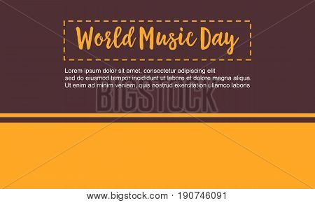 World music day vector flat illustration collection stock