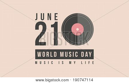 Collection stock world music day vector art illustration