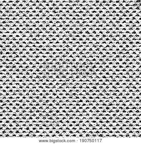 Black and white mottled pattern. Melange texture pattern. Vector seamless