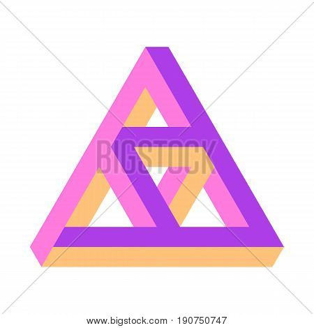 Vector Illustration Of The Penrose Triangle, Triforce