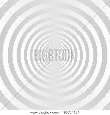 gray and white concentric circles background. vector