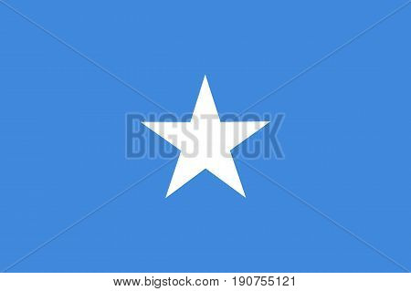 Colored Flag Of Somalia