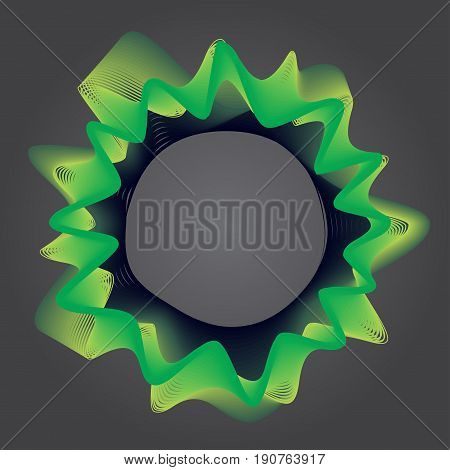 Abstract line background simple line. Design element of lines with same random and noise with green and yellow color - Vector Illustration