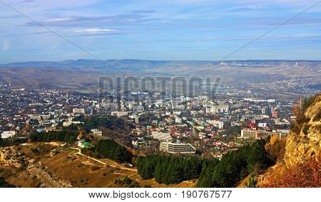 View of the largest resort city of Kislovodsk, Northern Caucasus,Russia.