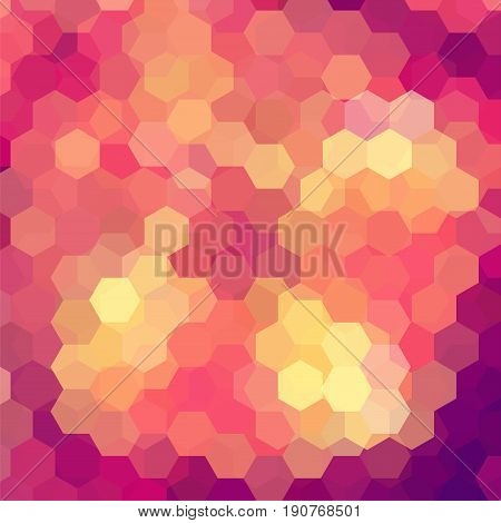Abstract Hexagons Vector Background. Colorful Geometric Vector Illustration. Creative Design Templat