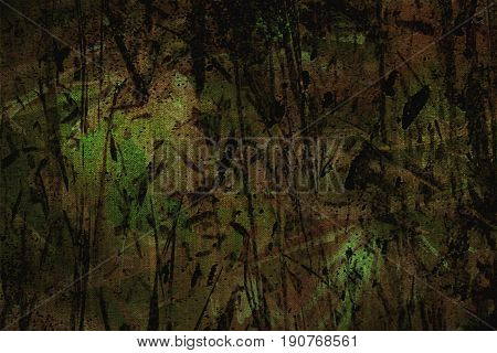 Plant abstract background. Green abstract background. Brown green background.Surreal background.