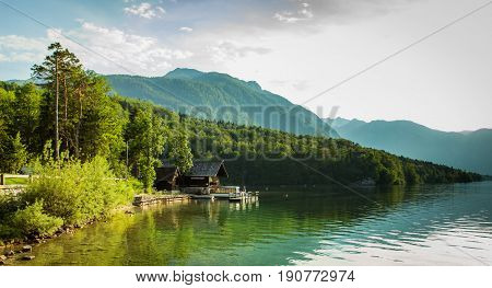 View Of Bohinj Lake In Julian Alps Slovenia