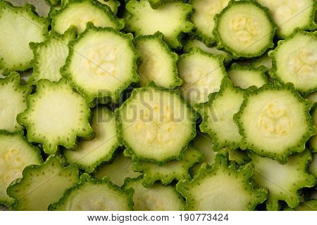 Green Zucchini Background