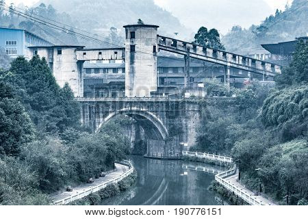 View of a coal mine in Yuejin. Jiayang Mining Region. Sichuan province. China