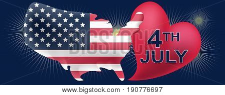 American independece day FB cover in vector