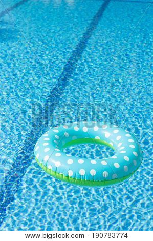 Floating inflatable toy in swimming pool