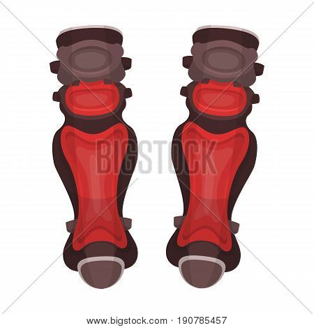 Protective knee pads. Baseball single icon in cartoon  vector symbol stock illustration .