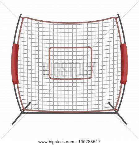 Protective fencing.Baseball single icon in cartoon  vector symbol stock illustration .