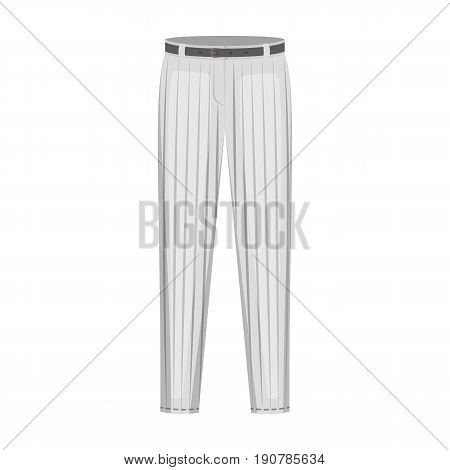 Uniform pants baseball. Baseball single icon in cartoon  vector symbol stock illustration .