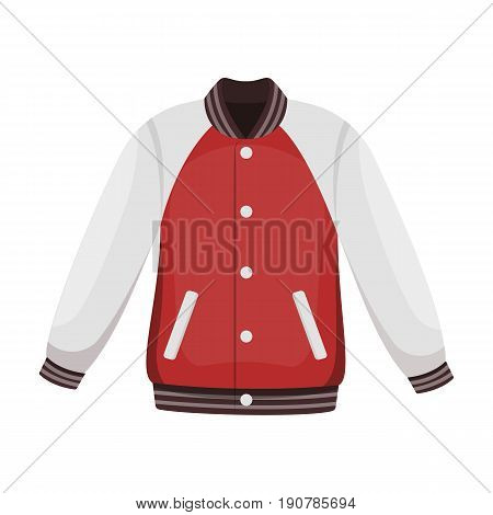 Uniform baseball jacket. Baseball single icon in cartoon  vector symbol stock illustration .