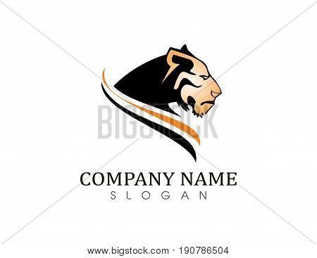 Tiger vector logo on a white background