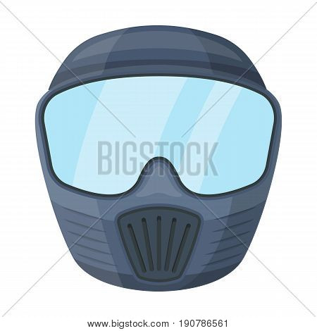 Protective mask.Paintball single icon in cartoon  vector symbol stock illustration .