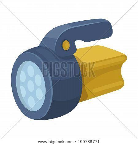Flashlight.Tent single icon in cartoon  vector symbol stock illustration .