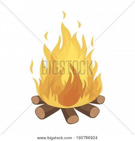 Bonfire.Tent single icon in cartoon  vector symbol stock illustration .