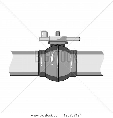 Pipeline shutter.Oil single icon in monochrome  vector symbol stock illustration .