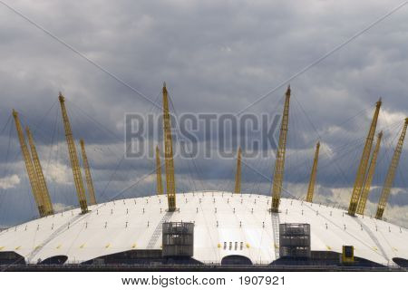 The O2 Arena formerly the Millenium Dome in the docklands area of London England poster