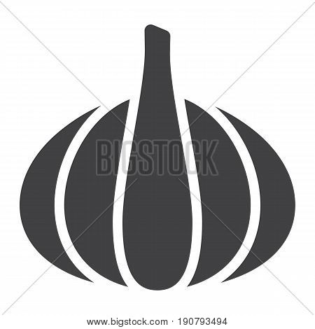 Garlic solid icon, vegetable and diet, vector graphics, a glyph pattern on a white background, eps 10.