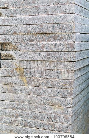 stack of granite slab texture - marble layers design gray stone slab surface grain rock backdrop layout industry construction