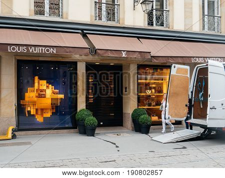 Delivery Van For The Fashion Store Louis Vuitton