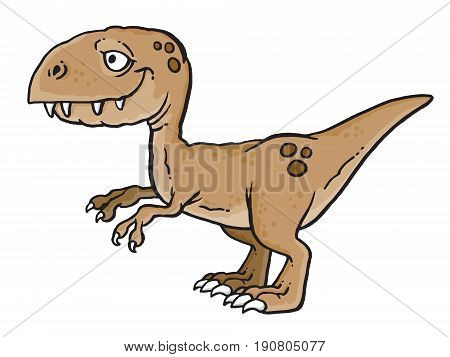 Cartoon drawing of a T-Rex dinosaur. Vector illustration.