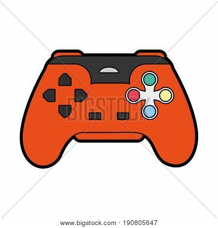 videogame controller icon image vector illustration design